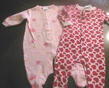 Lot of (2) Girls Sleepers, 3-6M, Carters Gap, Red White Pinks, Valentines