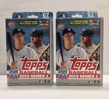 2019 Topps Baseball Series 1 Hanger Box Walgreens Excl w/ Yellow Parallels Lot 2