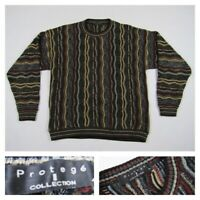 Protege Collection VTG Multi-Color Coogi Style Sweater Biggie Cosby 90's Large