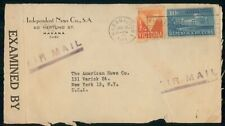 Mayfairstamps HABANA AD 1943 COVER INDEPENDENT NEWS COMPANY wwm17409