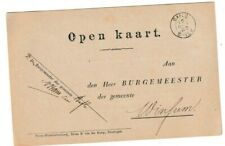 Netherlands Postal History: small round Baflo 16Oct88 to Winsum, military notice