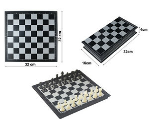 Chess Game Large Magnetic Travel Chess Game Table Top Desk Game Foldable QX5877