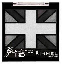 Rimmel Glam Eyes Eyeshadow, Quad, 001 Black Cab, Waterproof Eyeshadow, New