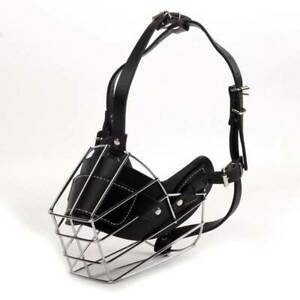 Adjustable Muzzles Dog Muzzle Snout Chewing Training Metal Wire Basket CB