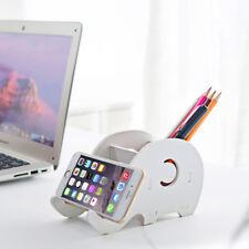 support holder storage cell phone Elephant organizer pen  decoration desk room