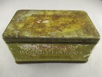 Vintage Rowntree's Biscuit Fingers Biscuit Tin - Collectable Advertising Display