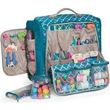 American Crafts We R Memory Keepers Crafter's Bag – 360º Wheels – Aqua Blue