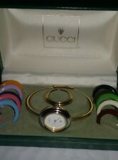 "gucci 6 1/2"" lovely unique  bangle watch set @ gucci watch box"