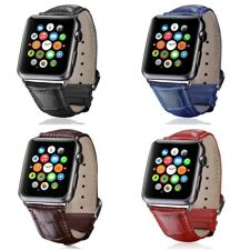 Apple Watch Band Series 4 3 2 1 Crocodile Genuine Leather Style 42/44mm 40/38mm