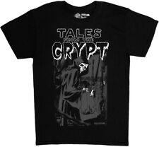 Tales From The Crypt Grim Reaper Black Unisex Adult Short Sleeve Tee Shirt (Smal