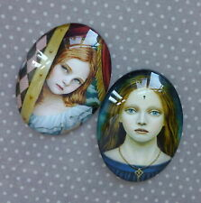 2 pcs 30x40mm Domed Oval Cabochons Character cabochon CH011