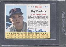 1963 Jello #168 Ray Washburn Signed Card (Cardinals) (Flat Rate Ship)