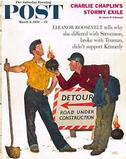 The Saturday Evening Post March 8 1958 Amos Sewell Vintage Americana Chaplin