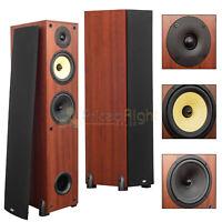 "2 Pack 6.5"" 3-Way Tower Floor Standing Speakers Home Theater Audio DCM MTX Pair"