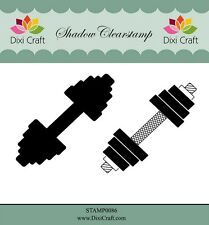 Dixi Crafts Clearstamp  Stamp WEIGHTLIFTING 2pc DCSTAMP0086