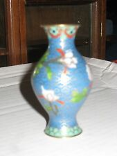 small Cloissone blue vase