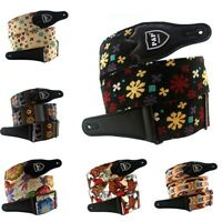 Embroidered Guitar Shoulder Strap Musical Instruments Acoustic Electric-Bass US