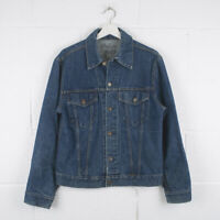 Vintage LEVI'S Classic Dark Blue Trucker Denim Jacket Size Mens Small /R55007