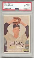 1957 Topps #352 ELLIS KINDER, PSA 6 EX-MT,  CHICAGO WHITE SOX, L@@K !