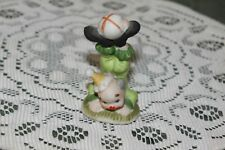 "Vintage. ""Enesco"". Clown In Green Suit Holding Up Ball."