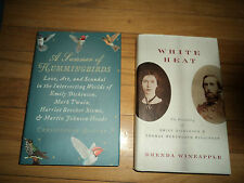 2 Literary Biographies Emily Dickinson Higginson Twain Harriet Beecher Stowe