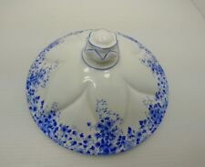 SHELLEY DAINTY BLUE CHINA VEGETABLE COVERED BOWL COVER LID ONLY