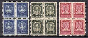 Croatia - NDH - 1941/45 -  Michel 103/105 - MNH