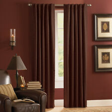 "Style Selections Roberta 84"" Mocha Brown Polyester Rod Pocket Thermal Curtain"