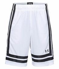 Under Armour Men's UA Baseline 25 cm 18 Basketball Shorts - Medium - White - New