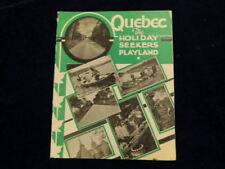 Vintage 1934 Quebec The Holiday Seekers Playland Travel Brochure Canada Q260