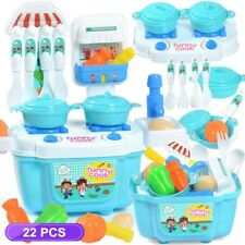 Pretend Play Kitchen Set Toys For Kid Toddler Children Food Cooking Playset Toy