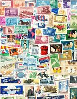 100 Different Vintage U. S. Postage Stamps, all Mint Never-Hinged!