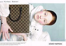 PUBLICITE ADVERTISING 074  1998  LOUIS VUITTON  bagages accessoires DAMIER ( 2 p