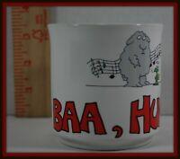 Vintage Sandra Boynton Baa Humbug Sheep Christmas Coffee Mug 1984