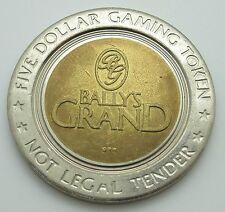 Casino $5 Token - Bally's Grand Hotel Atlantic City New Jersey