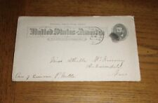 RARE VINTAGE 1898 POSTALLY USED POSTAL CARD / POSTCARD - PRINTED ONE CENT STAMP