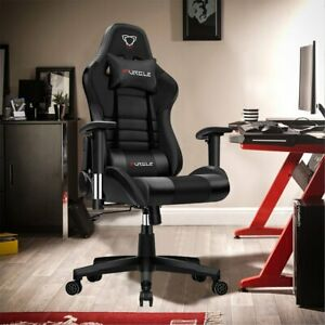 Furgle Gaming Chair Ergonomic PU Recliner Swivel Office Computer Chair Desk Seat