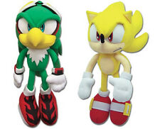 NEW Set of 2 GE Sonic the Hedgehog - Jet Hawk & Super Sonic Stuffed Plush Toys