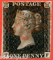 "SG. 2. A1 (2). AS25. "" TF "". 1d black. Plate 5. State 1. A fine used example."