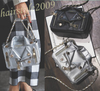 Women PU Leather Handbag Chain Shoulder Bag Messenger Satchel Tote Crossbody Bag