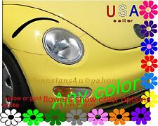 ANY Headlight eyeBROWS accent for Car Eyelashes VW beetle eyelid decal Brow USA