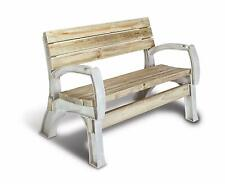 Patio Bench Outdoor Lawn Garden Porch Chair Kit Sand Durable Resin Frame