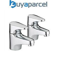 Bristan Jute Chrome Plated Basin Sink Taps Pair JU 1/2 C