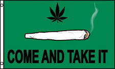 Come and Take It 3x5 Polyester Marijuana Spliff Weed Pot Joint Flag