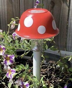 Toadstool Mushroom Garden Solar Light Stake Set Of Four