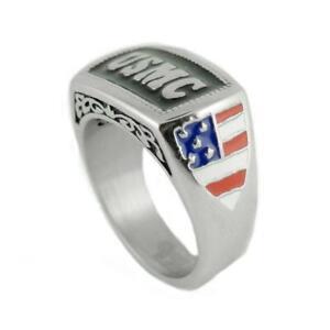 Men's  Stainless Steel USMC Military Marine Ring 123/ 1834