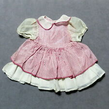 Doll Clothes Dress Checkered Red White Rayon See photos for sizes Usa Seller