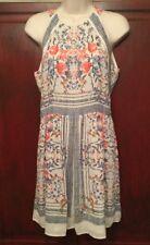BCBG Max Azria Size 2 Ivory Pink & Blue Sleeveless Dress BENEFITS VETERANS