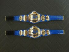 2 NWA Tag Team Custom Wrestling Figure Belts (Action figure not included)