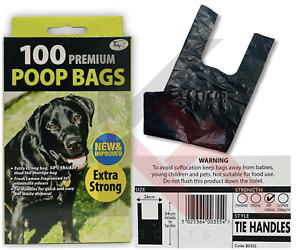 DOGGY BAGS EXTRA STRONG Scented Dog Puppy Poo Waste Easy Tie Scooper Poop LEMON